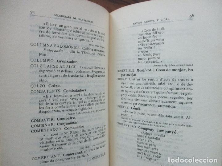 Diccionarios antiguos: DICCIONARI DE BARBRISMES INTRODUHITS EN LA LLENGUA CATALANA.CARETA Y VIDAL. 1901. - Foto 4 - 82281580