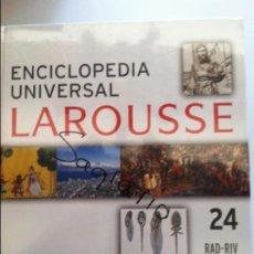 Diccionarios antiguos: ENCICLOPEDIA UNIVERSAL LAROUSSE Nº 24 RAD-RIV. Lote 82624960