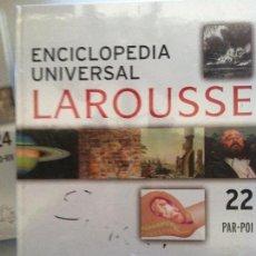 Diccionarios antiguos: ENCICLOPEDIA UNIVERSAL LAROUSSE Nº 22 PAR-POI. Lote 82625320