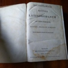 Diccionarios antiguos: DICTIONARIUM MANUALE LATINO-HISPANUM AD USUM PUERORUM. STEPHANO XIMENEZ (1802). Lote 83405176