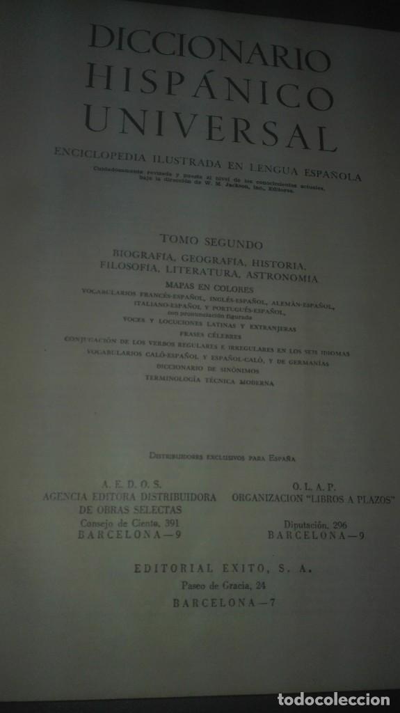 Diccionarios antiguos: diccionario hispanico universal.edit.exito - Foto 5 - 83527552