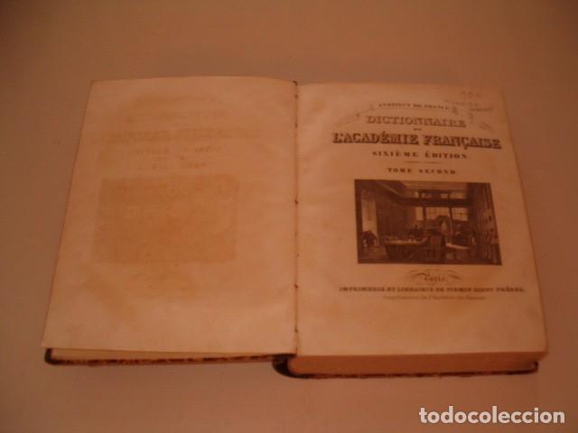 Diccionarios antiguos: INSTITUT DE FRENCE. Dictionnaire de L'Académie Française. Tome Second. RM80305. - Foto 2 - 85700152