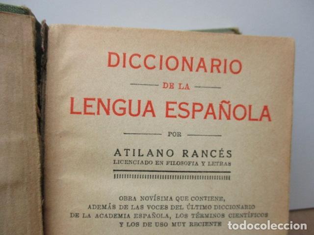 Diccionarios antiguos: DICCIONARIO DE LA LENGUA ESPAÑOLA - ATILANO RANCÉS 1937 - CON 800 GRABADOS - Foto 6 - 86066740