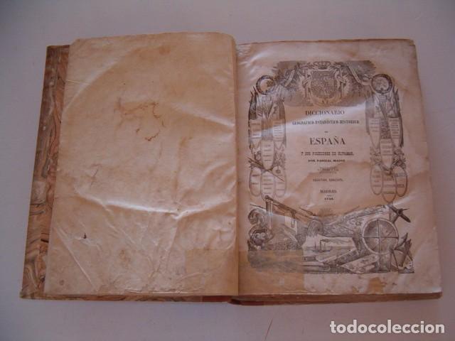 Diccionarios antiguos: Diccionario Geográfico – Estadístico – Histórico de España.. Tomo 1. Aba-Alicante. RM80847. - Foto 2 - 86720152