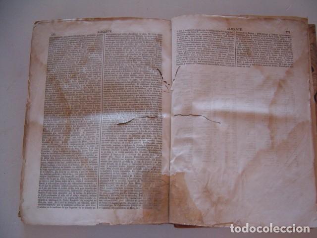 Diccionarios antiguos: Diccionario Geográfico – Estadístico – Histórico de España.. Tomo 1. Aba-Alicante. RM80847. - Foto 4 - 86720152