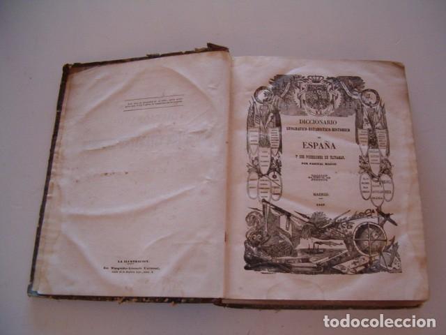 Diccionarios antiguos: Diccionario Geográfico – Estadístico – Histórico de España.Tomo IX. Gua-Juz. RM80850. - Foto 3 - 86721220