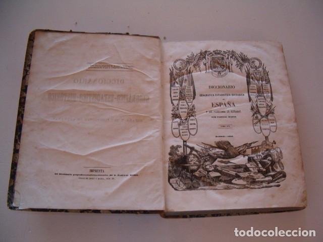 Diccionarios antiguos: Diccionario Geográfico – Estadístico – Histórico de España. Tomo XVI. Via-Zuz. RM80855. - Foto 2 - 86721576