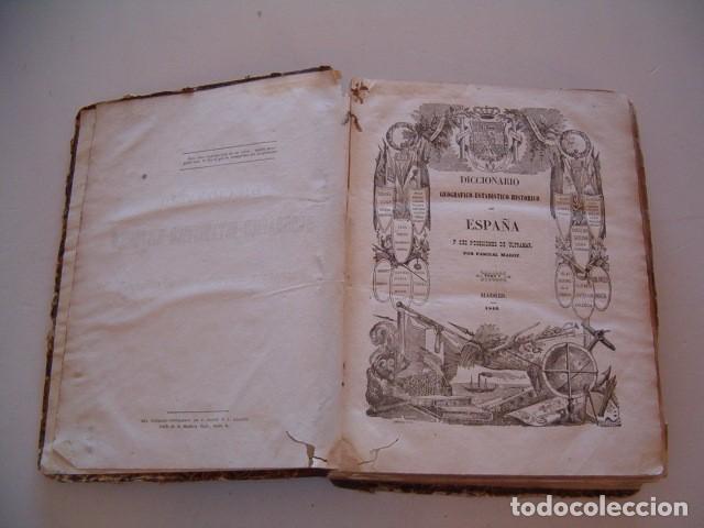 Diccionarios antiguos: Diccionario Geográfico – Estadístico – Histórico de España. Tomo V. RM80954. - Foto 3 - 87056940