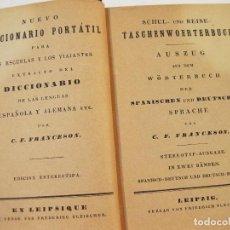 Diccionarios antiguos: NUEVO DICCIONARIO PORTATIL PARA LAS ESCUELAS Y LOS VIAJANTES ESPAÑOL ALEMAN - C. F. FRANCESON. Lote 88382860