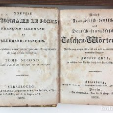 Diccionarios antiguos: DICTIONNAIRE DE POCHE FRANÇOIS-ALLEMAND ET ALLEMAND-FRANÇOIS. TOMO II. IMP. LEVRAULT. 1826.. Lote 89250348