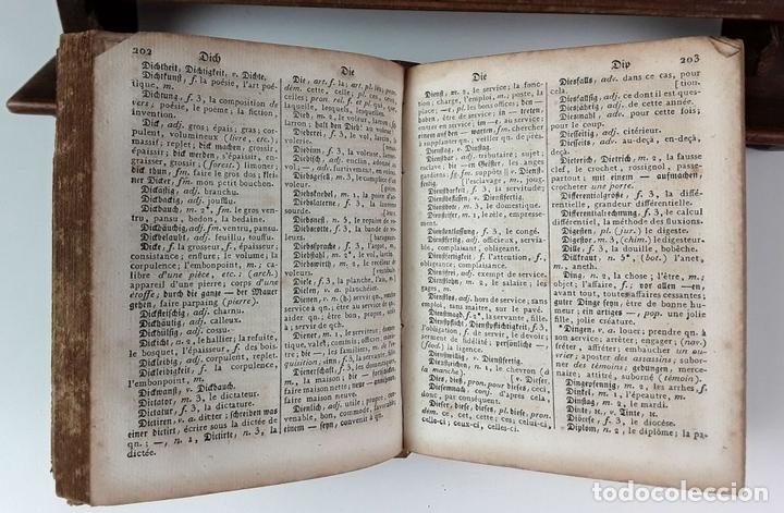 Diccionarios antiguos: DICTIONNAIRE DE POCHE FRANÇOIS-ALLEMAND ET ALLEMAND-FRANÇOIS. TOMO II. IMP. LEVRAULT. 1826. - Foto 3 - 89250348