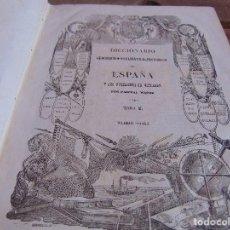 Diccionarios antiguos: DICCIONARIO GEOGRAFICO-ESTADISTICO-HISTORICO DE ESPAÑA Y SUS POSESIONES DE ULTRAMAR MADOZ TOMO 2 . Lote 89374796