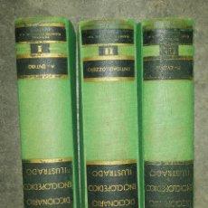 Diccionarios antiguos: DICCIONARIO ENCICLOPEDICO ILUSTRADO 3 TOMOS EDICION RAMON SOPENA AÑO 1956. Lote 91655600