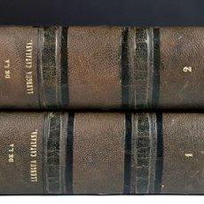 Diccionarios antiguos: DICCIONARI DE LA LLENGUA CATALANA. TOMOS I Y II. PERE LABERNIA. EDITORS ESPASA GERMANS. 1864/65.. Lote 93005315