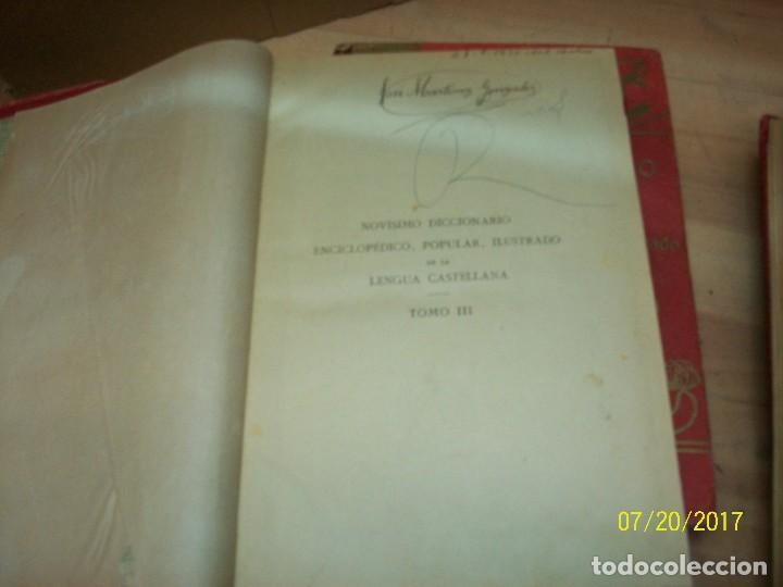 Diccionarios antiguos: NOVISIMO DICCIONARIO ENCICLOPEDICO POPULAR ILUSTRADODE LALENGUA CASTELLANA-AÑOS 1900 - Foto 5 - 93710420