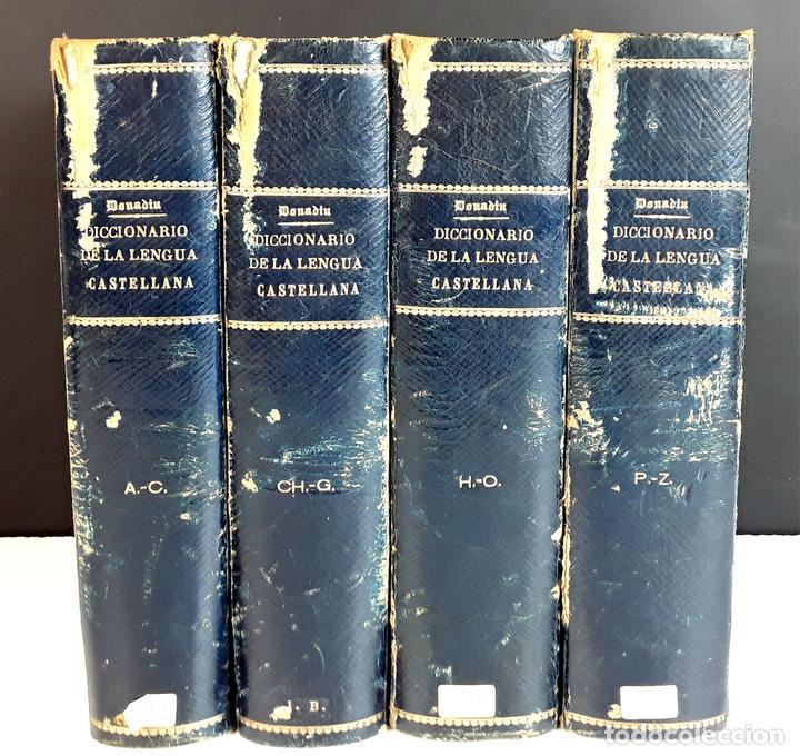 DICCIONARIO DE LA LENGUA CASTELLANA. 4 TOMOS. EDITORES ESPASA Y COMPAÑÍA. S/F. (Libros Antiguos, Raros y Curiosos - Diccionarios)