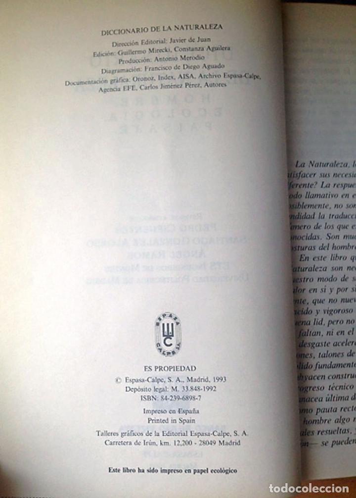 Diccionarios antiguos: DICCIONARIO DE LA NATURALEZA - ESPASA-CALPE - 1993 - Foto 2 - 94409706
