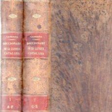Diccionarios antiguos: LABERNIA : DICCIONARI DE LA LLENCUA CATALANA (ESPASA, C. 1880) ILUSTRADO POR APELES MESTRES. Lote 94971687