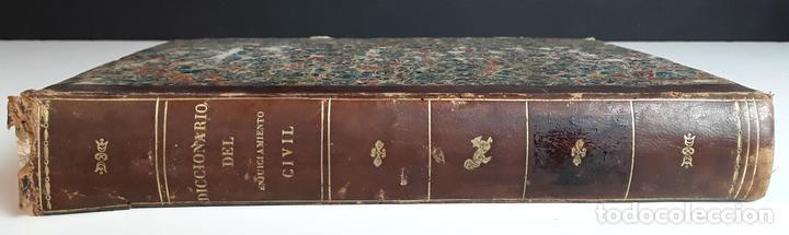 DICCIONARIO TEÓRICO-PRÁCTICO DEL ENJUICIAMIENTO CIVIL. IMP. V. DE DOMINGUEZ. 1856. (Libros Antiguos, Raros y Curiosos - Diccionarios)