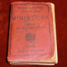 Diccionarios antiguos: DICCIONARIO MINIATURA 1936 GARNIER HERMANOS. Lote 95942711