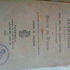 Diccionarios antiguos: ANTIGUO LIBRO AÑO 1877 DE LA LENGUA VALENCIANA ALABANZAS DE LS LENGUAS,MARTÍN DE VICIANA. Lote 96005528