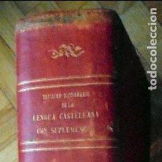 Diccionarios antiguos: NOVISIMO DICCIONARIO DE LA LENGUA CASTELLANA CON SUPLEMENTOS. 1892. PARIS. LIBRERIA DE GARNIER HER.. Lote 96937011