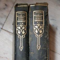 Diccionarios antiguos: 2 VOLÚMENES DICCIONARIOS DE COPENAGE-DINAMARCA. Lote 97405066