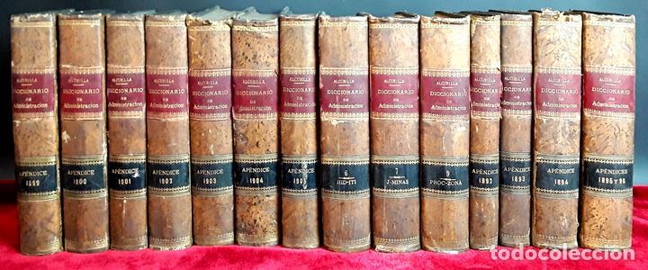 DICCIONARIO DE LA ADMINISTRACIÓN ESPAÑOLA. 14 VOLUM. ALCUBILLA. IMP. LÓPEZ CAMACHO. (Libros Antiguos, Raros y Curiosos - Diccionarios)