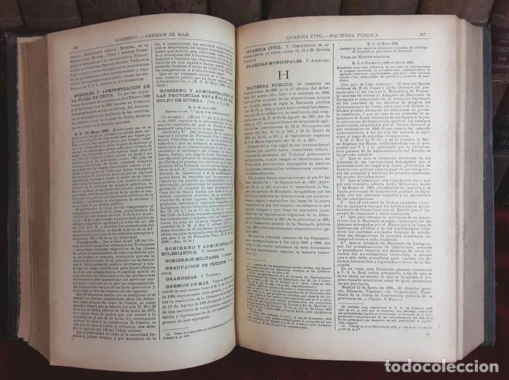 Diccionarios antiguos: DICCIONARIO DE LA ADMINISTRACIÓN ESPAÑOLA. 14 VOLUM. ALCUBILLA. IMP. LÓPEZ CAMACHO. - Foto 7 - 97786203