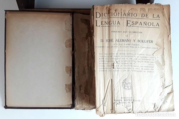 Diccionarios antiguos: DICCIONARIO DE LA LENGUA ESPAÑOLA. JOSÉ ALEMANY. EDITOR RAMÓN SOPENA. 1917. - Foto 2 - 98438927