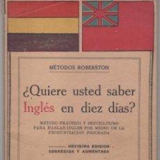 Livres anciens: ANTIGUO DICCIONARIO ESPAÑOL - INGLÉS . ÉPOCA REPÚBLICA ESPAÑOLA 1930. VER DESCRIPCIÓN. Lote 98756143