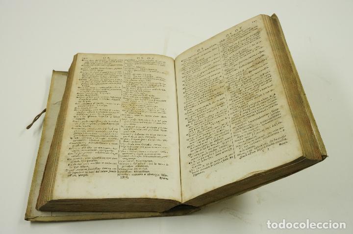 Diccionarios antiguos: VOCABOLARIO ITALIANO - ESPAGNOLO, LORENZO FRANCIOSINI, 1706. 12x18,5 cm - Foto 3 - 99352627