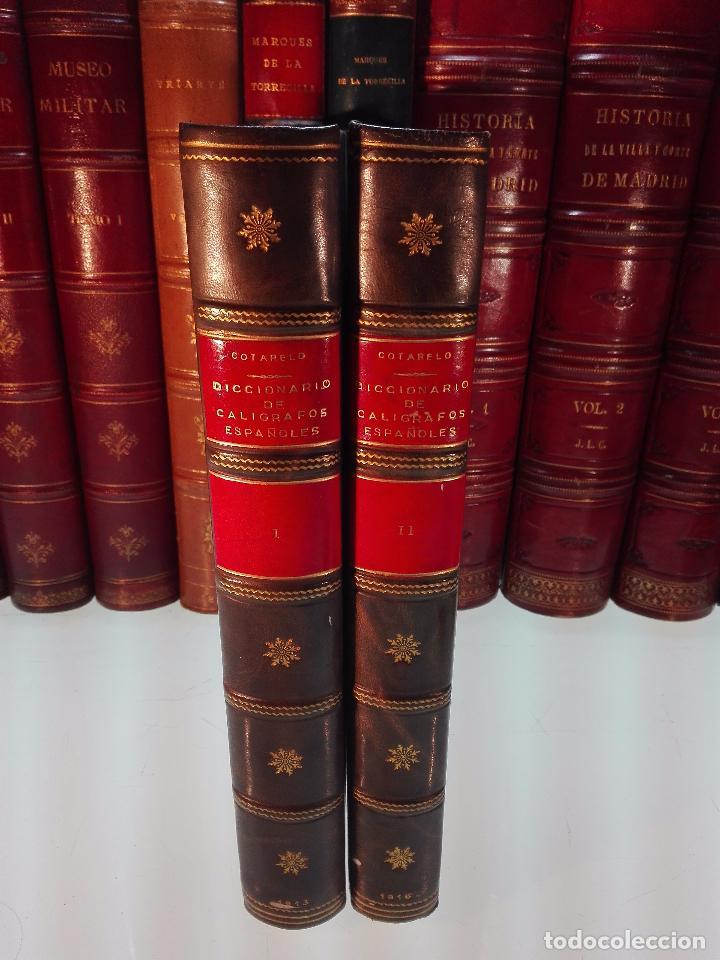 MUY INTERESANTE DICCIONARIO BIOGRÁFICO Y BIBLIOGRÁFICO DE CALÍGRAFOS ESPAÑOLES - TOMOS I Y II-1913 - (Libros Antiguos, Raros y Curiosos - Diccionarios)