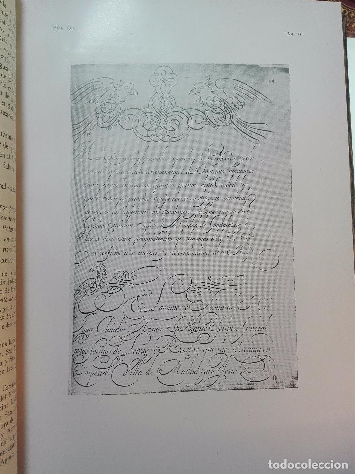 Diccionarios antiguos: MUY INTERESANTE DICCIONARIO BIOGRÁFICO Y BIBLIOGRÁFICO DE CALÍGRAFOS ESPAÑOLES - TOMOS I Y II-1913 - - Foto 7 - 100461723