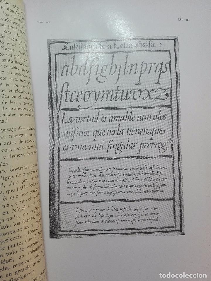Diccionarios antiguos: MUY INTERESANTE DICCIONARIO BIOGRÁFICO Y BIBLIOGRÁFICO DE CALÍGRAFOS ESPAÑOLES - TOMOS I Y II-1913 - - Foto 16 - 100461723