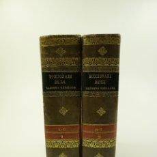 Diccionarios antiguos: DICCIONARI DE LA LLENGUA CATALANA, 1839, 2 TOMOS. 17X24CM. Lote 101447907