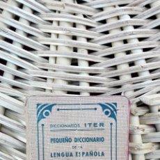 Diccionarios antiguos: PEQUEÑO DICCIONARIO DE LA LENGUA ESPAÑOLA. BARCELONA. 1941 W. Lote 101532147