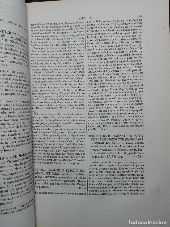 Diccionarios antiguos: DICCIONARIO DE BIBLIOGRAFÍA AGRONÓMICA Y DE TODA CLASE DE ESCRITOS RELACIONADOS CON LA AGRICULTURA - - Foto 5 - 104595339