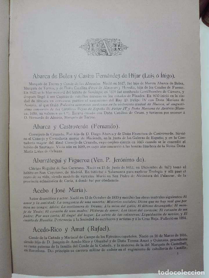 Diccionarios antiguos: DICCIONARIO BIOGRÁFICO MATRITENSE - LUIS BALLESTEROS ROBLES - EDIT. EXCMO. AYUNTAMIENTO - 1912 - - Foto 4 - 104883427