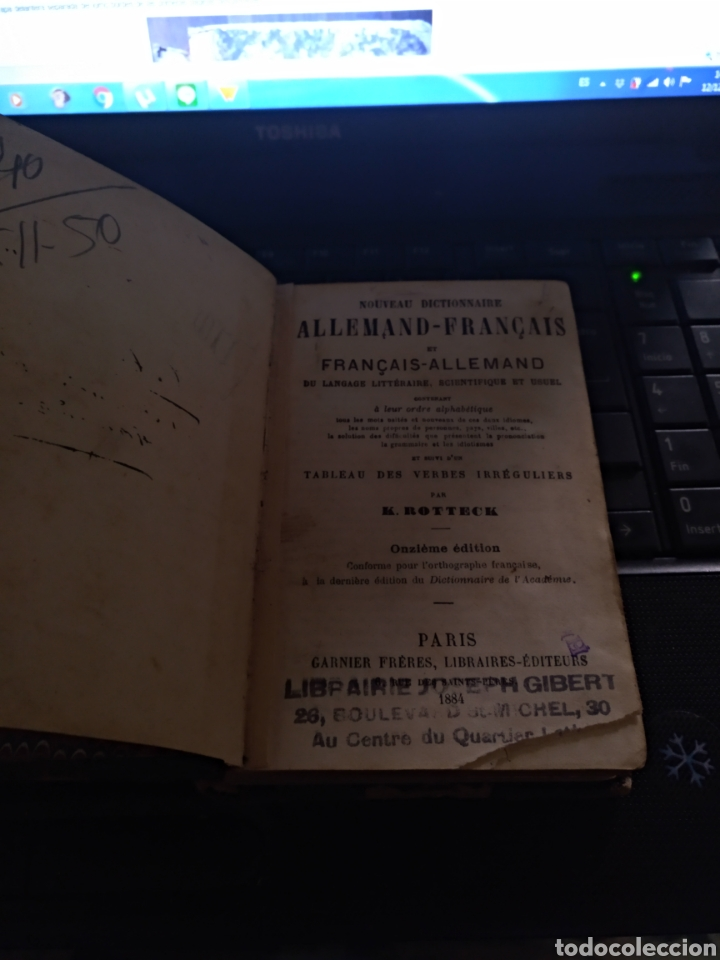 DICCIONARIO ALEMAN FRANCÉS K.ROTTECK 1884 (Libros Antiguos, Raros y Curiosos - Diccionarios)