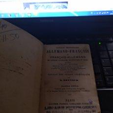 Diccionarios antiguos: DICCIONARIO ALEMAN FRANCÉS K.ROTTECK 1884. Lote 105894950