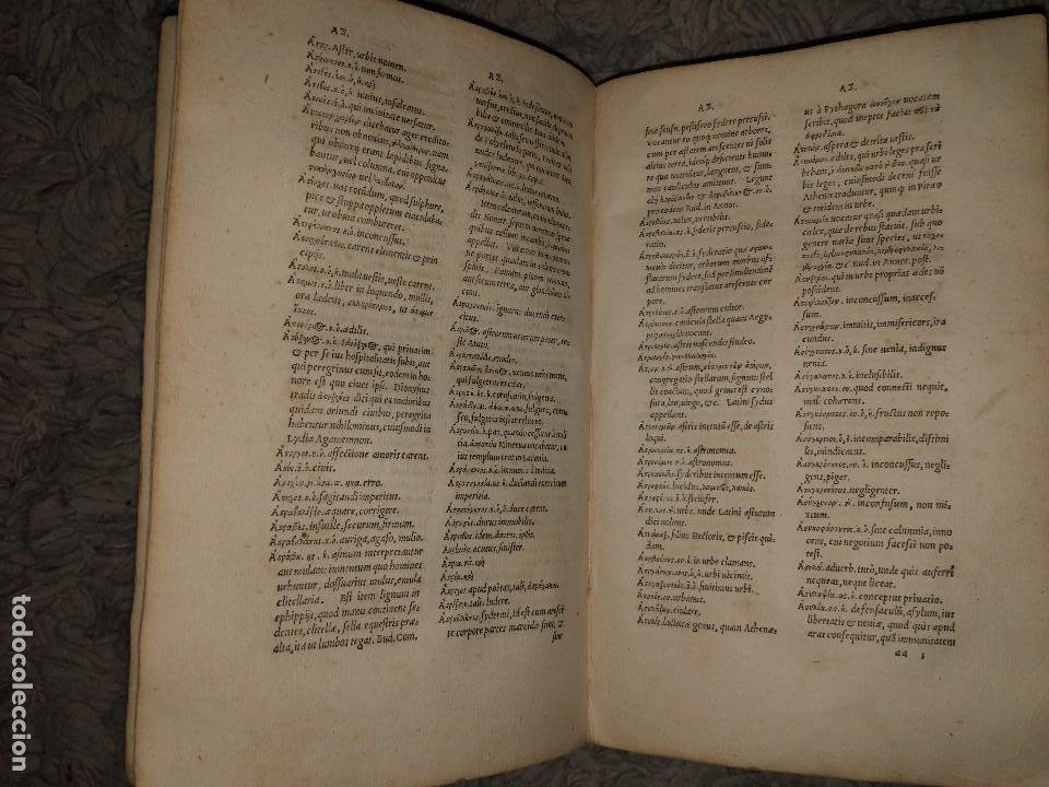 Diccionarios antiguos: Libro de 1539. Lexicon Graecum. Basileae - Foto 4 - 106098087