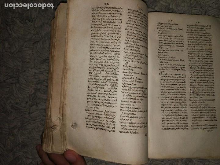 Diccionarios antiguos: Libro de 1539. Lexicon Graecum. Basileae - Foto 5 - 106098087