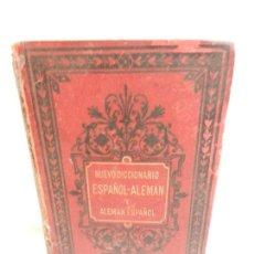Diccionarios antiguos: DICCIONARIO ESPAÑOL-ALEMÁN Y ALEMÁN-ESPAÑOL PARIS LIB. GARNIER HERMANOS AÑO 1885.. Lote 136075874