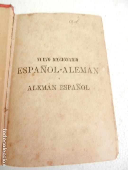 Diccionarios antiguos: DICCIONARIO ESPAÑOL-ALEMÁN Y ALEMÁN-ESPAÑOL PARIS LIB. GARNIER HERMANOS AÑO 1885. - Foto 3 - 136075874