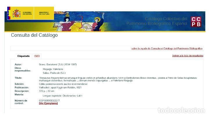 Diccionarios antiguos: Año 1821 Dichos y refranes Imprenta Valladolid Thesaurus hispano-latinus Pergamino Castellano Latín - Foto 20 - 108678439
