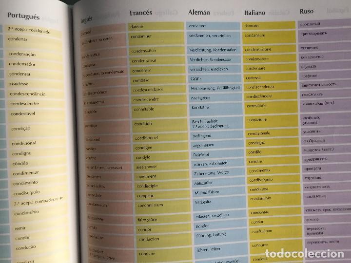 Diccionarios antiguos: Diccionario Multilingüe, 10 idiomas, muy práctico, gran formato, a estrenar! - Foto 6 - 170639560