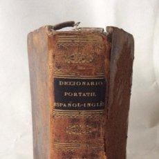Diccionarios antiguos: 1827-DICCIONARIO PORTÁTIL ESPAÑOL -INGLÉS EN DOS PARTES PARIS 1827. Lote 109084839