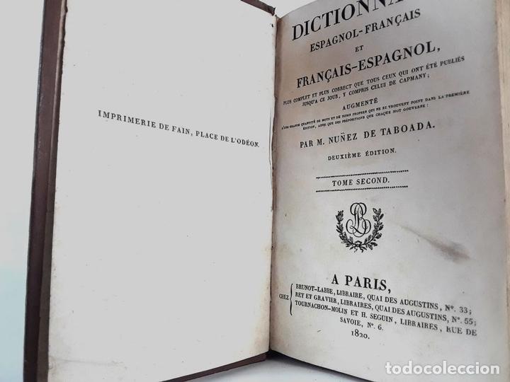Diccionarios antiguos: DICCIONARIO ESPAÑOL-FRANCÉS. 2 TOMOS. 1820. M.NUÑEZ DE TABOADA. - Foto 2 - 222722675