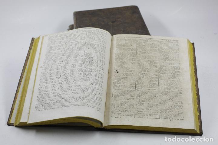 Diccionarios antiguos: Nuevo diccionario de las lenguas española, francesa y latina, 1789, F. Cormon, 3 vol,Amberes.20x25cm - Foto 3 - 110627519
